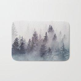 Winter Wonderland - Stormy weather Bath Mat