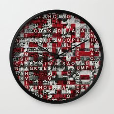 Paradox Network (P/D3 Glitch Collage Studies) Wall Clock