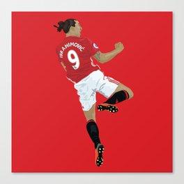 Zlatan Ibrahimovic - Manchester United Canvas Print