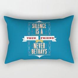 Silence Is Rectangular Pillow