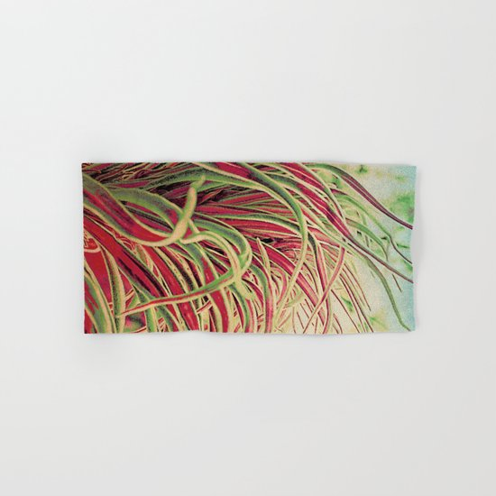 Green & red succulent. Hand & Bath Towel