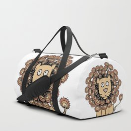 A Lion's Mane yellow Duffle Bag