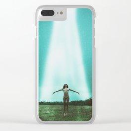 Alien Abduction Clear iPhone Case