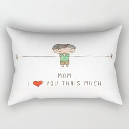 Mom I love you boy Rectangular Pillow