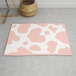 Moo - Pink Cow Rug Rug