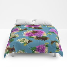 Floral Dachshund Comforters