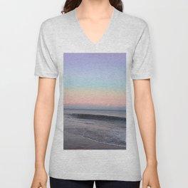 Light Pastel Seascape 2 Unisex V-Neck