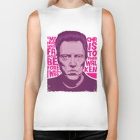 christopher walken Biker Tanks featuring Christopher Walken by Mike Wrobel