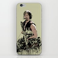 daryl iPhone & iPod Skins featuring Daryl Dixon by Huebucket
