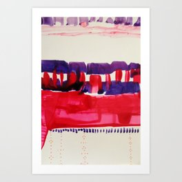 Map To Morocco (Refined Series 7)  Art Print