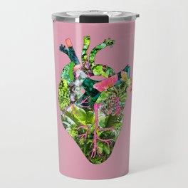 Botanical Heart Pink Travel Mug