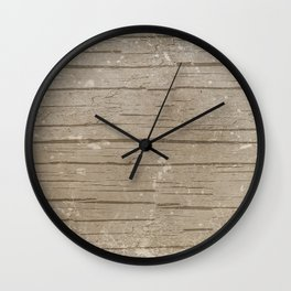 Nautical Driftwood Wood Grain Pattern Wall Clock