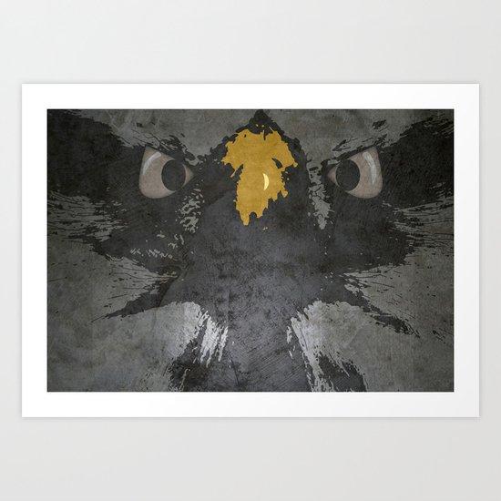 angry eagle Art Print