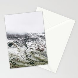 Littledale Edge and snow. Honister Pass, Cumbria, UK. Stationery Cards