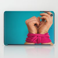 bondage iPad Cases featuring Bondage Heart Hands by Mel Had Tea