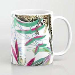 texture of print fabric striped leopard Coffee Mug