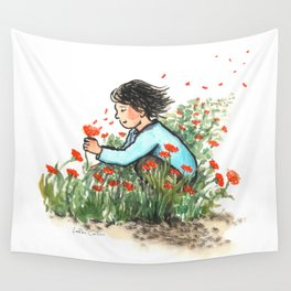Poppy wishes Wall Tapestry