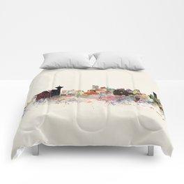 vancouver skyline Comforters