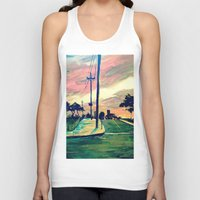 urban Tank Tops featuring Urban // Slowtown by Samantha Crepeau