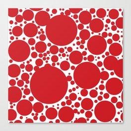 Red Polka Dot Pattern Canvas Print