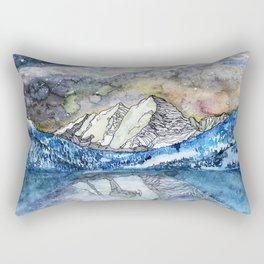 The Maroon Bells Meets  the Sky Rectangular Pillow