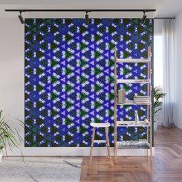 Blue Lattice Wall Mural