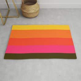 Earth and Summer Sky - Color Strips - Colors of Travel Rug