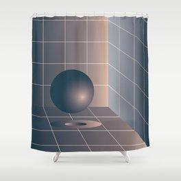 Shape study #6 - Memphis Collection Shower Curtain