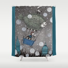 One Thousand and One Star Shower Curtain