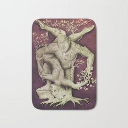 Entangled - Gold & Burgundy Bath Mat