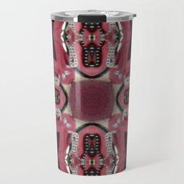 Soft Red Quadrant Travel Mug