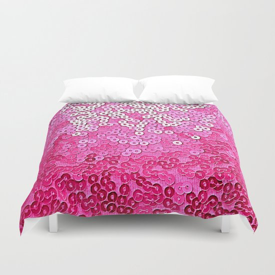 Party Pink Sequins  Duvet Cover