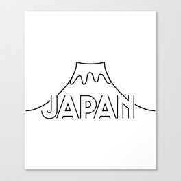 Japan Lineart Mount Fuji Canvas Print