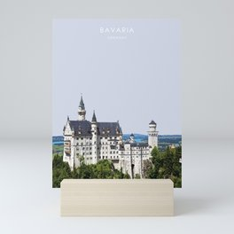 Neuschwanstein Castle, Bavaria, Germany Travel Artwork Mini Art Print