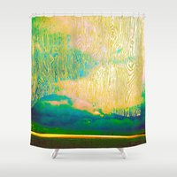 murakami Shower Curtains featuring Storm by Neelie