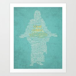 "Teal ""Come Unto Christ"" 2014 LDS Mutual Theme Art Print"