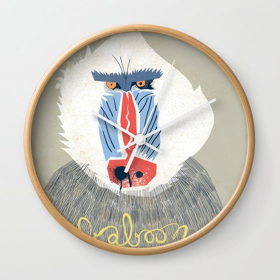Baboon Wall Clock