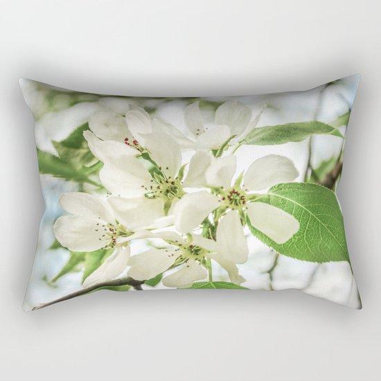 the Apple blossoms Rectangular Pillow