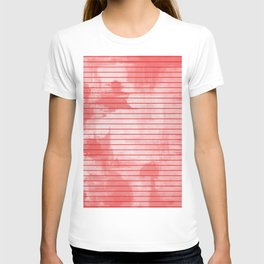 Seeing Red - Textured, geometric red T-shirt