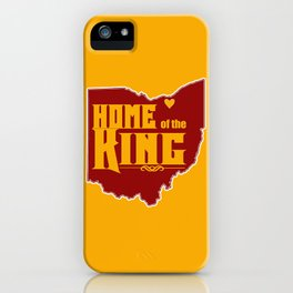 Home of the King (Yellow) iPhone Case