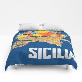 Sicilia - Sicily Italy Vintage Travel Comforters