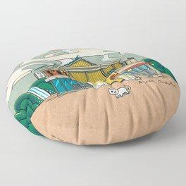 Urban Minhwa: Local Chicken Place B Type (Korean traditional/folk art) Floor Pillow