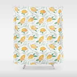Lemonlicious Lemon Pattern Shower Curtain