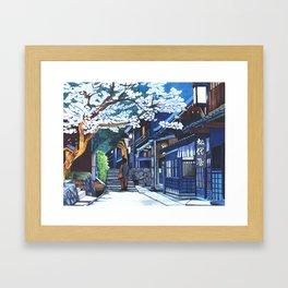 Under the Cherry Blossoms, Spring Framed Art Print