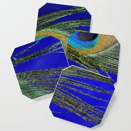 Peacock Feather Macro Coaster
