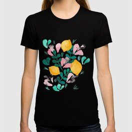 Abstract Lemons Composition // Yellow Turquoise Pink Palette T-shirt