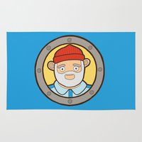 the life aquatic Area & Throw Rugs featuring The Life Aquatic by evannave