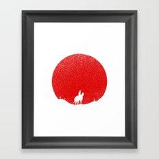 The Rising Sunset Framed Art Print