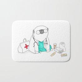 Doctor Pug Bath Mat