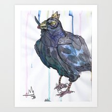 King Crow Art Print